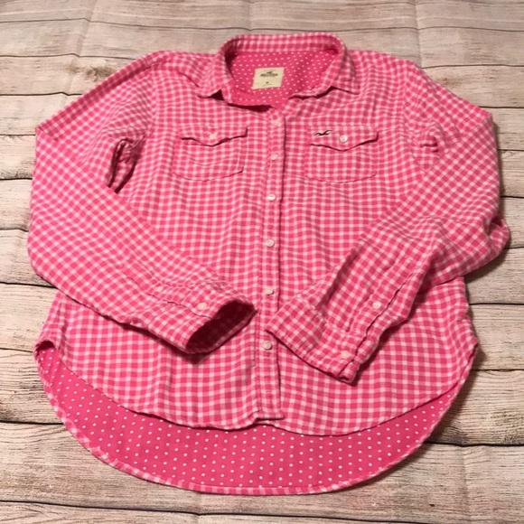 Hollister Tops - Hollister Flannel Medium Pink